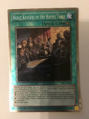 NKRT-EN018 Noble Knights of the Round Table Platinum Rare Limited Ed Yu-Gi-Oh