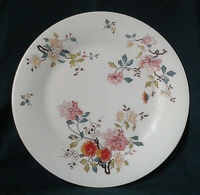 Royal Vale China Garden Dinner Plate Bone China Dining Plate Pink & Red Flowers
