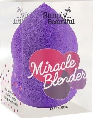 MIiracle Beauty Blender Make up Schwam  latexfrei - Tropfenform  Lila