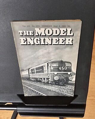 The Model Engineer Magazine. Vol.107 No. 2676. Sept. 4th 1952.