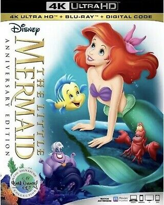 The Little Mermaid Anniversary Edition(4K Ultra+Blu-Ray+Digital Code)W/slipcover