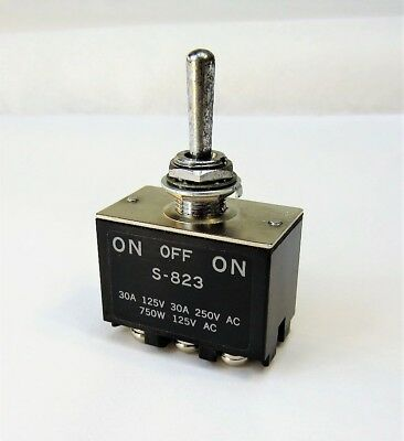 NIKKAI S-823 30A 750W Toggle Switch On-Off-On