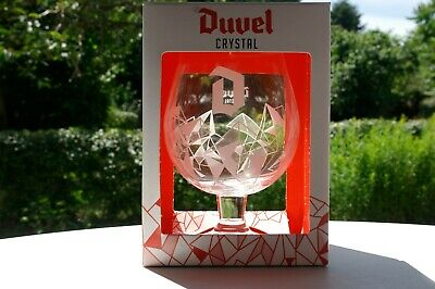 Verre DUVEL COLLECTOR GLAS Duvel CRYSTAL Cristal D BLANC WITTE D Different + BOX