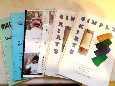 Bk37 Brother Silver Reed Knitting Machine Manuals Books Patterns Designs X 6