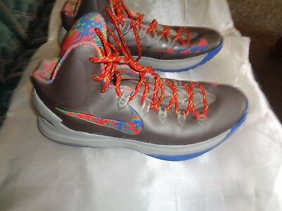 7d2a89bee8a8 NIKE AIR KD 5V Energy Splatter Kevin Durant Shoes Mens 11 Mint Cond ...