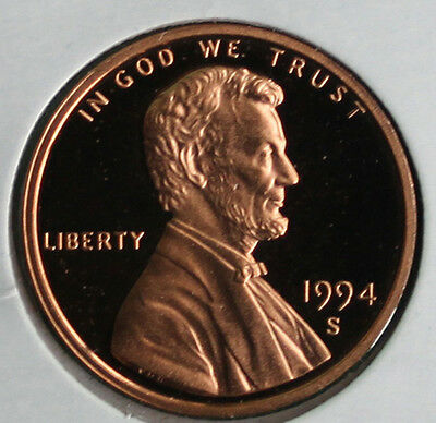 1994 S Lincoln Penny One-Cent Proof U.S. Mint Coin 1c from Proof Set