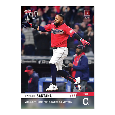 2019 Topps NOW 47 Carlos Santana Cleveland Indians [4.5.19]