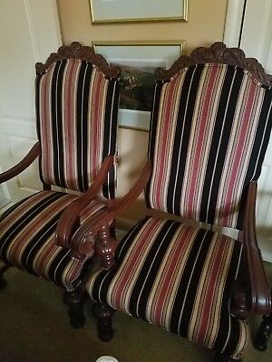 Pair Of Antique Arm Chairs From The Granada Theater- Detroit Michigan