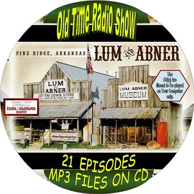 Lum & Abner Old Time Radio Show - 21 Episodes - Mp3 Om Cd - Humor, Comedy, Comic