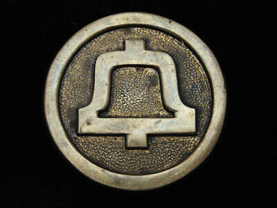 QK09133 VINTAGE 1970s **BELL TELEPHONE COMPANY** SOLID BRASS BELT BUCKLE