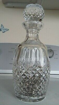 "ANTIQUE Crystal Glass 11"" DECANTER - Bottle - Carafe - CRUET - Jar"