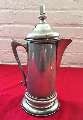 Antique Vintage Pairpoint Quadruple Plated Pitcher w/ Hinged Lid Silver