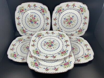 Royal Albert Petit Point Dinner Plates Set Of 6 Bone China England