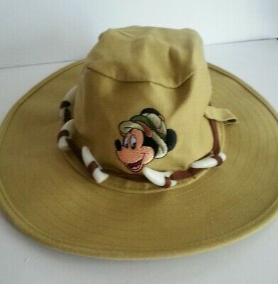 7e9dca8a65d72 Disney Animal Kingdom Safari Hat w  Mickey Mouse Embroidery Khaki Child  Toddler