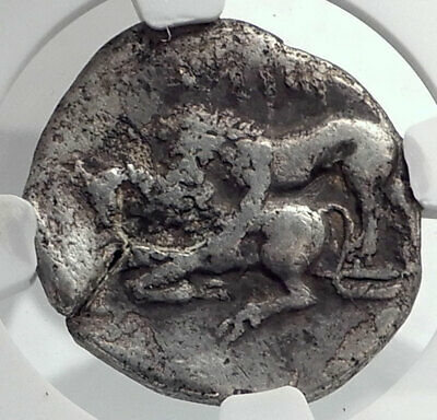 TARSOS CILICIA Authentic Ancient 331BC Silver Stater Greek Coin LION NGC i77244