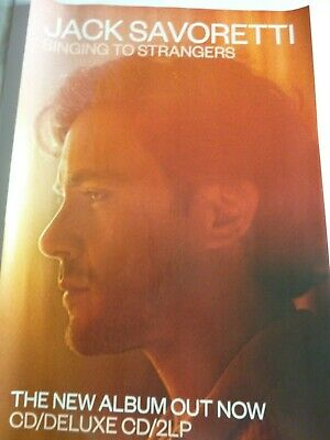 Jack Savoretti Singing To Strangers Original  Promotional Poster New Unused