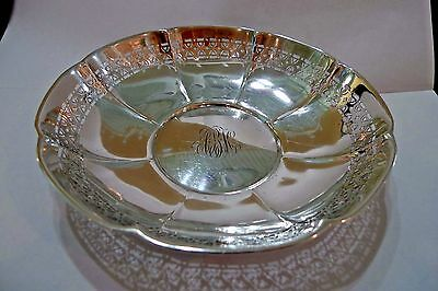 """Vintage Large Pierced Sterling Silver Serving Bowl """"Whiting Mfg. Co""""  **1919**"""