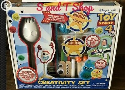Toy Story 4 Creativity Set New Disney Make Your Forky Ducky Bunny Fast FREE SHIP