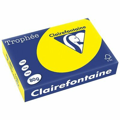 Trophee 80gsm Tinted A4 Copy Paper Ream Intensive Yellow