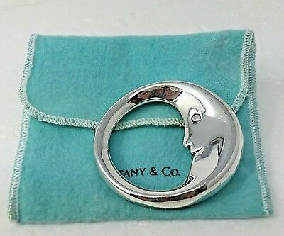 NO MONO Authentic Tiffany & Co STERLING BABY Rattle & Teething ring Man on MOON