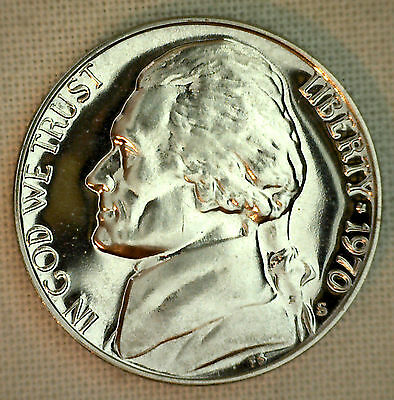1990 PROOF Jefferson Nickel from US Mint Proof Set 5c Five Cent Coin Made in USA