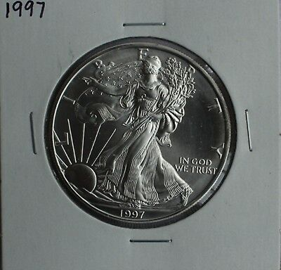 1997 BU American Silver Eagle Dollar Uncirculated ASE US Mint Bullion Coin