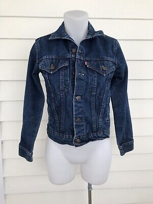 Girls Vintage Levis Jacket 14 Small Denim Jean Trucker 70706 0216 USA Junior