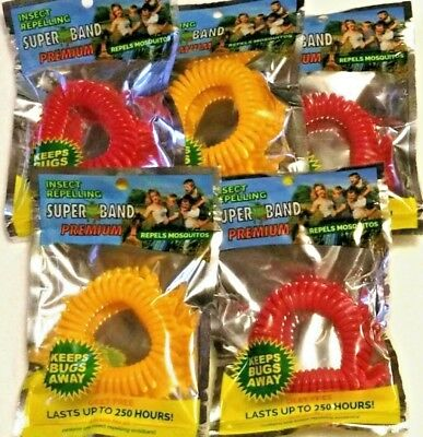 42 Evergreen Research Insect Repelling SuperBand Wrist Band Bugs Away DOUBLE PK