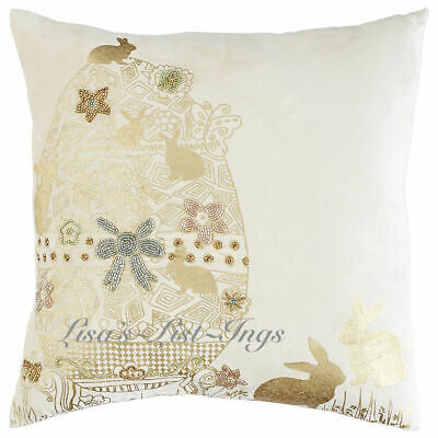 PIER 1 IMPORTS FOIL EMBELLISHED EASTER EGG THROW PILLOW 20X20 NWT More P1 items!