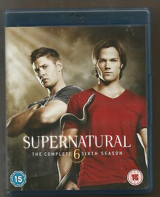 SUPERNATURAL 6 - COMPLETE SIXTH SEASON - UK BLU-RAY SET - SERIES 6 - vgc
