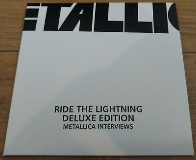 Metallica Ride The Lightning Deluxe Box Set - Interview CD New
