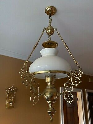 Antique Brass Light Fixture