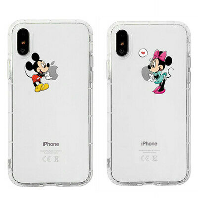 Mickey Minnie Cover for iPhone XS Max XR X 8 7 6 Creative Disney Shockproof Case