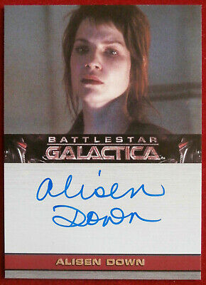 BATTLESTAR GALACTICA Season 3 - ALISEN DOWN as Jean Barolay - Autograph Card