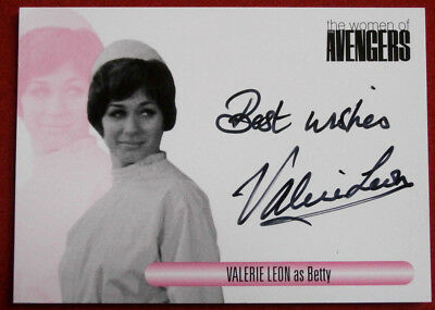 The Women Of The Avengers - VALERIE LEON as Betty - Autograph Card WAVL 2014