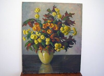 Large Floral Still Life Oil Painting By Kansas City Artist - Grace Bliss Stewart
