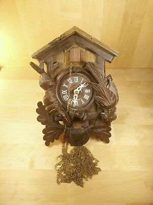 W. Germany Hunter Style Cuckoo Clock No Weights For Parts/Repair