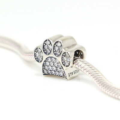 bf8bafbeaf954 NEW AUTHENTIC PANDORA Charms 925 ALE Sterling Silver Clear CZ ...