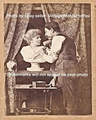 Vintage/Old/Antique/Funny/Weird/Strange/Odd/Sculptor Woman Bust Photo/Picture