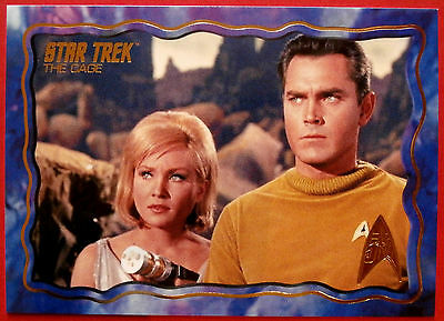 """STAR TREK TOS 50th Anniversary - """"THE CAGE"""" - GOLD FOIL Chase Card #62"""