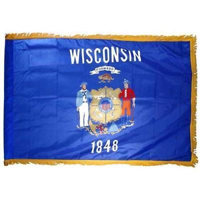 Valley Forge Wisconsin Flag 3x5ft Nylon