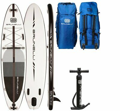 Brunelli 10.8 Premium Sup Board Stand Up Paddle Surf-Board Double Couche Noir 32