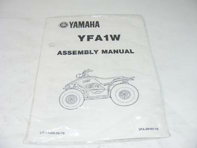 Yamaha YFA1W Assembly Manual Sealed  Factory Service Manual