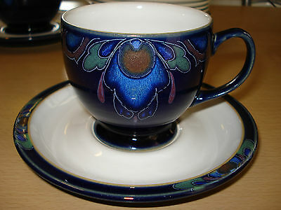 Denby Baroque footed tea/coffee cup and saucer