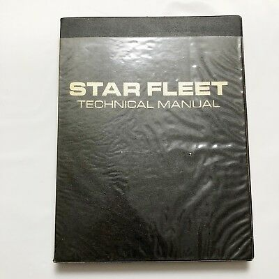STAR TREK Star Fleet Technical Manual 1975 First Edition First Printing HC