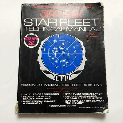 STAR TREK Star Fleet Technical Manual 20th Anniversary Ed 1986