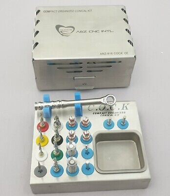 Dental Implant Compact Organized Conical Drills Kit / Professional Surgery Kit