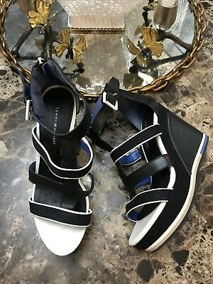 caccf7651 Tommy Hilfiger Women's size 7.5 Multicolor Ankle Strap Espadrille Wedge  Sandal