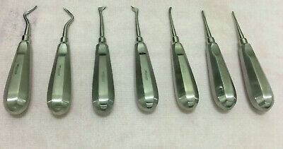 Dental Root Elevator Kit Of 7 Pcs  Apical, Flohr & Cryer Elevators Oral Surgery