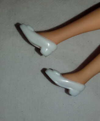 1 pair of White Very Good Condition Dawn Doll Boots